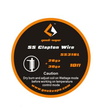 Geek Vape Clapton Wire (26GA+30GA) SS316L