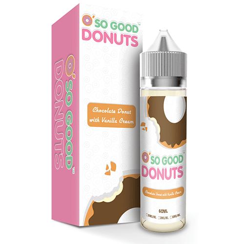 O' So Good Donuts Chocolate with Vanilla Cream