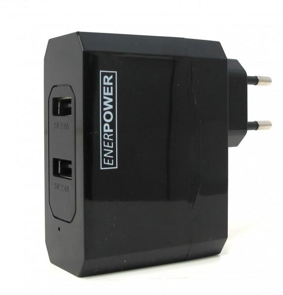 Enerpower 2-Port USB-Ladegerät EP-L13 (Netzteil) 2x 5V 2.1A